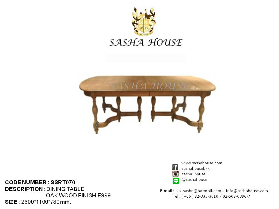 DINING TABLE (SSRT070)